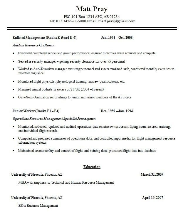 military resume template resume sample resume for a military to - Sample Military Resume
