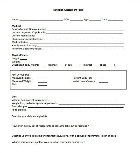 Sample Health Assessment - 8+ Documents In PDF, Word