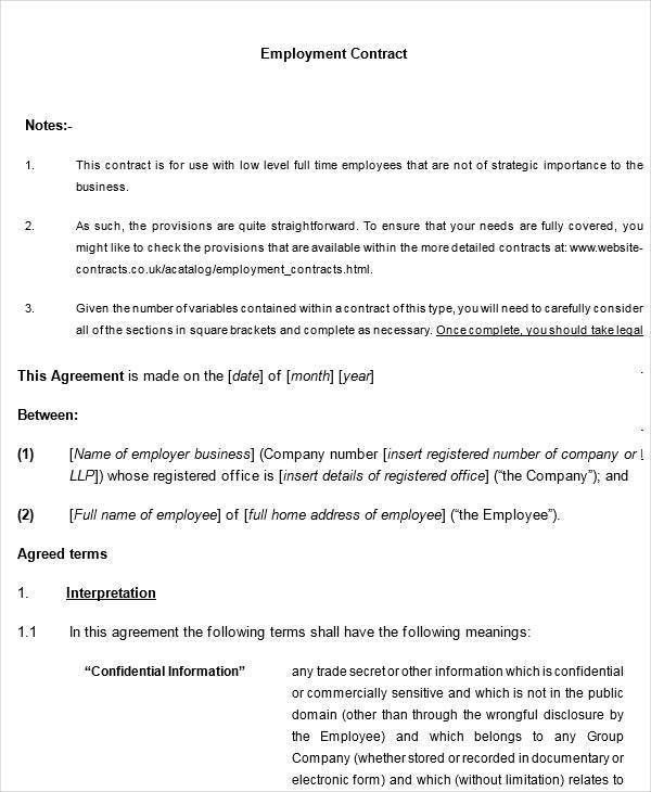 8+ Legal Contract Templates - Free Sample, Example, Format Download