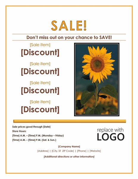 Sale Flyer Design | Microsoft Word Templates