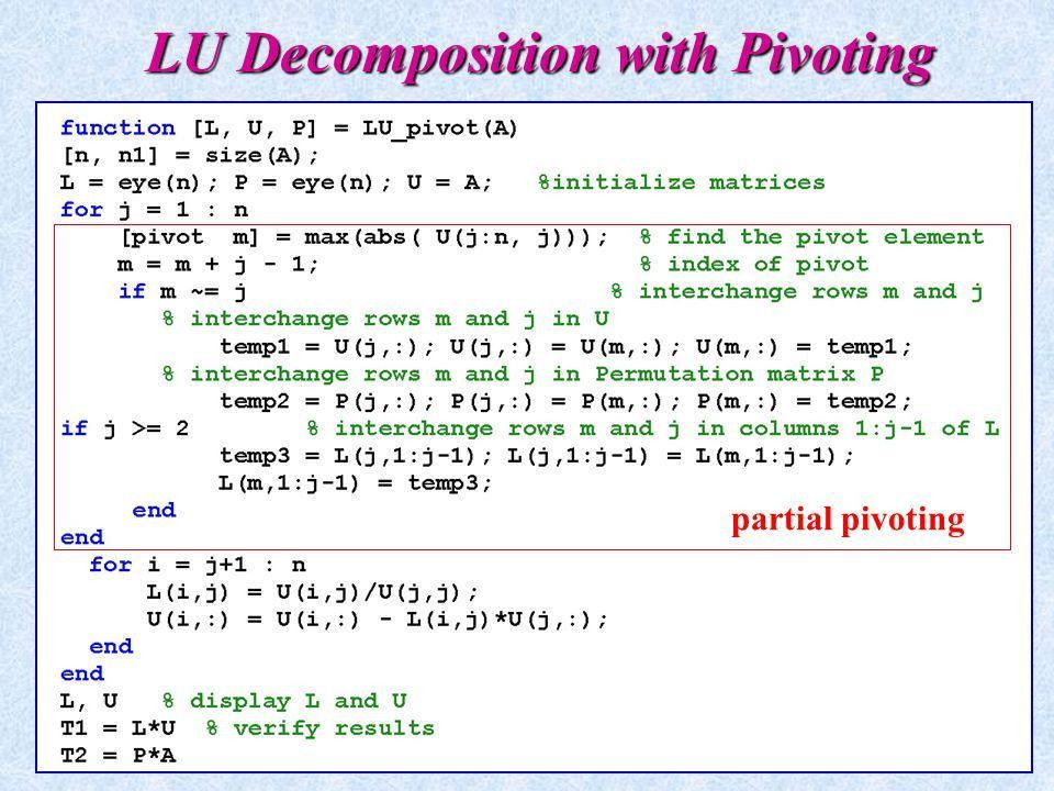 Chapter 10 LU Decomposition. - ppt video online download