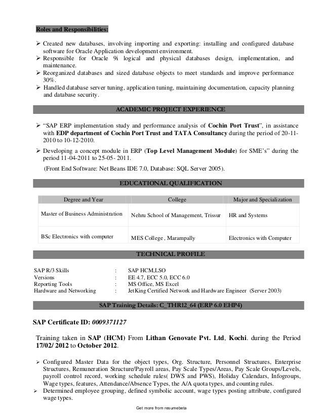 Functional professional director of human resources resume