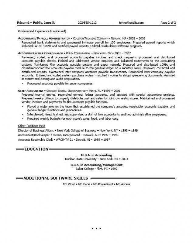 Accounting Resume Objective – Resume Examples