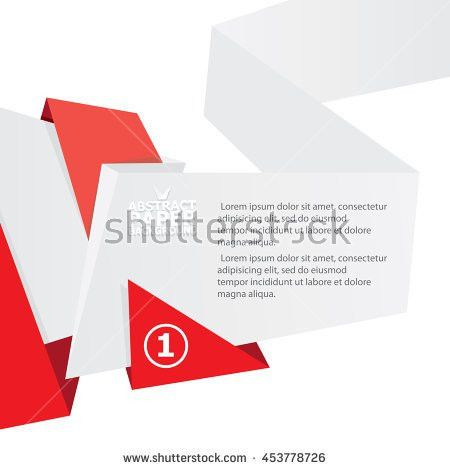 Vector Origami Paper Red Banner Vector Stock Vector 453778855 ...