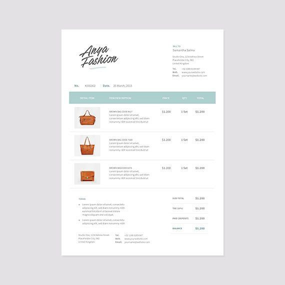 Retail Invoice Template Receipt Template Format Photoshop
