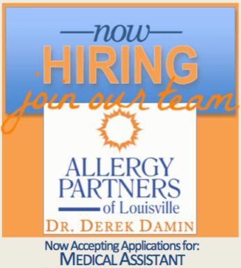 Hiring medical assistant Louisville | Dr. Derek Damin