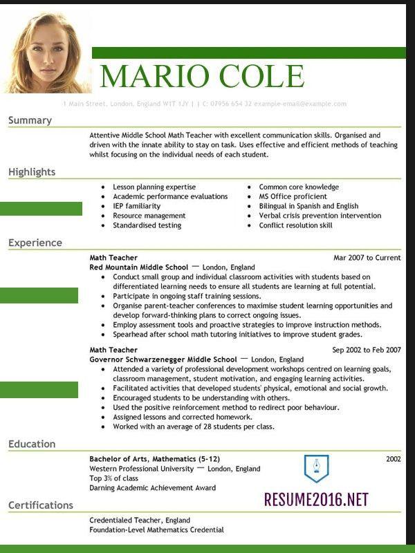 Microsoft Word Cv Template Download Curriculum Vitae Resume ...