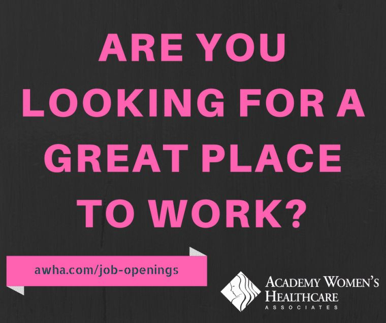 Job Openings - Academy Women's Healthcare Associates - ObGyn ...