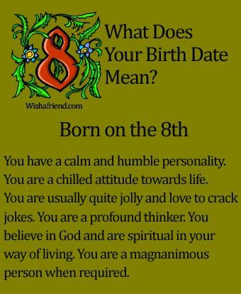 What Does Your Birth Date Mean?- Born on the 8th | Straight talk ...