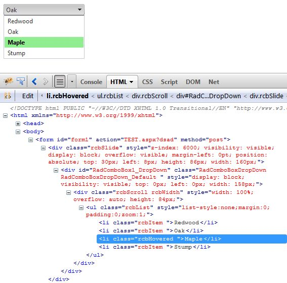 Understanding the Skin CSS File | RadComboBox for ASP.NET AJAX ...