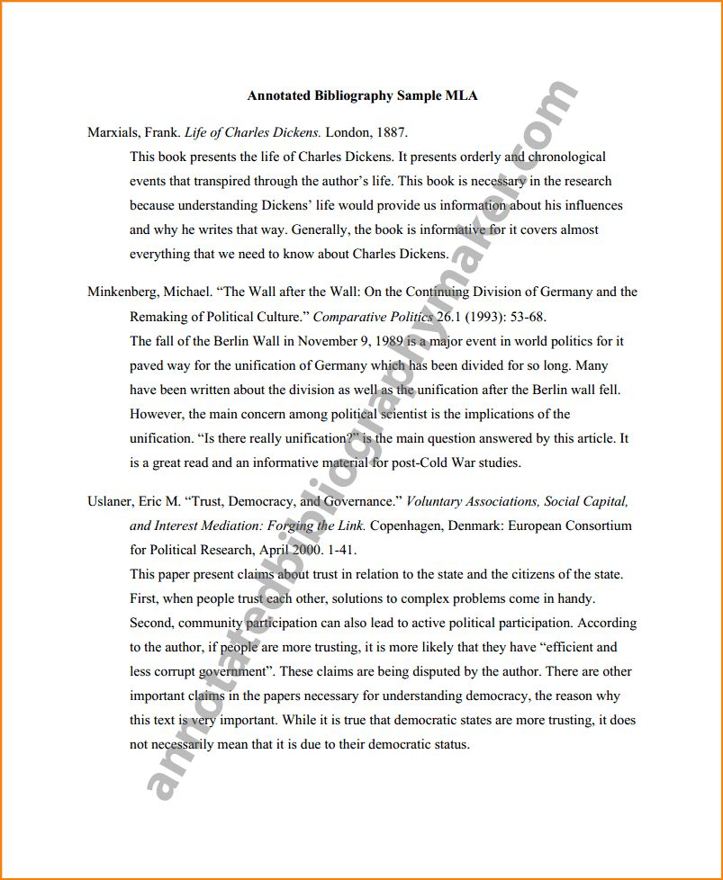 10+ Mla Format For Annotated Bibliography | Bibliography Format