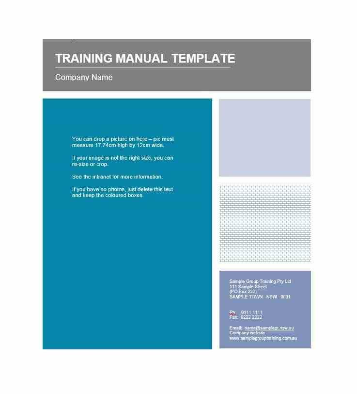 Training Manual - 40+ Free Templates & Examples in MS Word