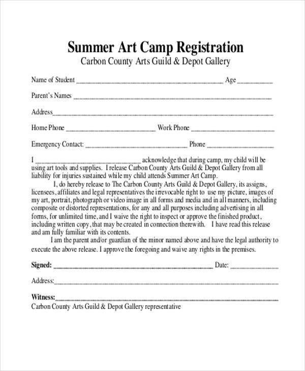 10+ Summer Camp Registration Form Samples - Free Sample, Example ...