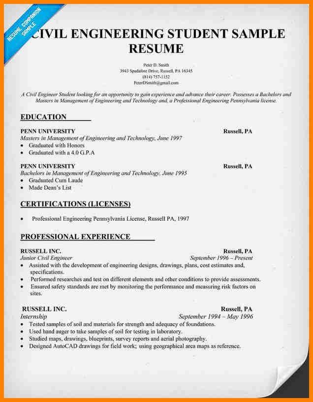 Sample Civil Engineer Resume. Engineer Resume Examples Related ...