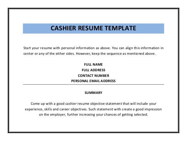 sample resume of cashier resume cv cover letter ...