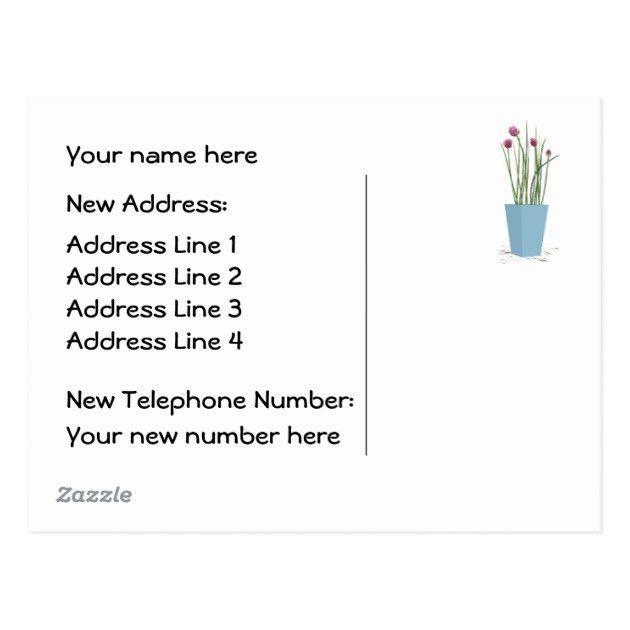 Custom Card Template » Change Of Address Card Template - Free Card ...