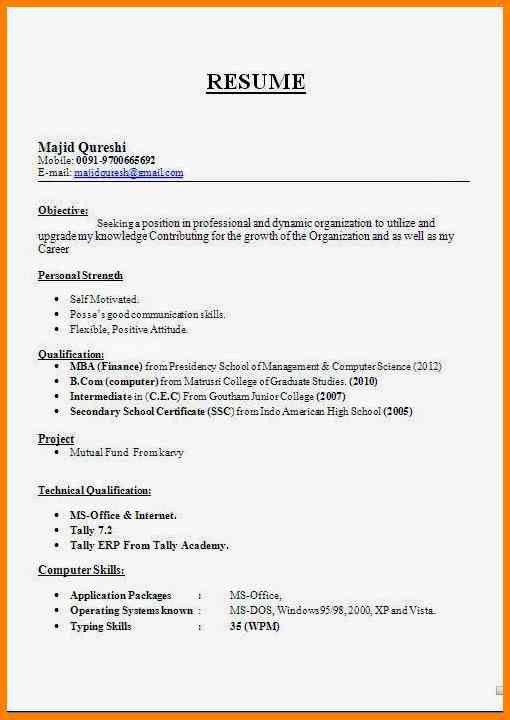 9+ Biodata Sample For Teacher Job | Cashier Resumes  Biodata Format For Teacher Job