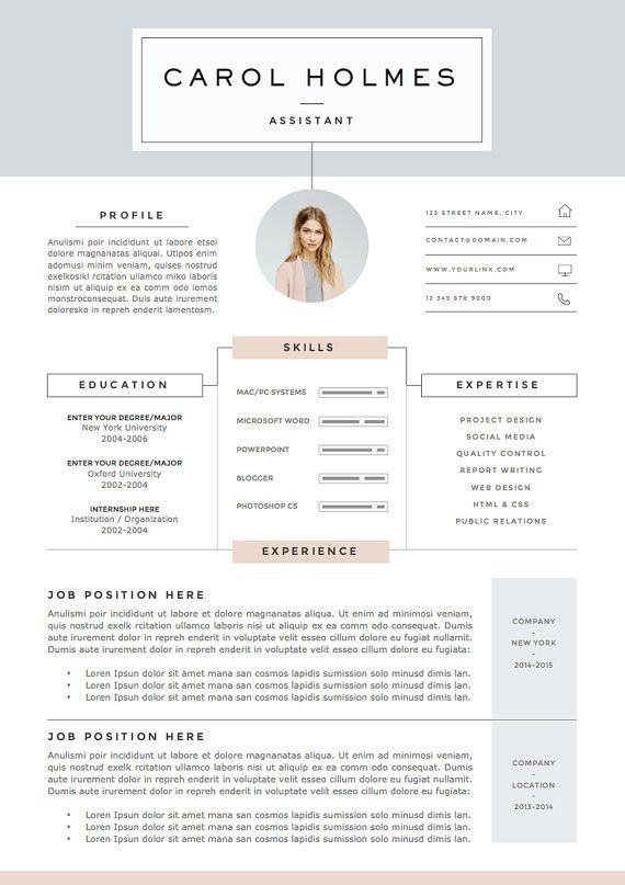 5 page Resume Template and Cover Letter References Template