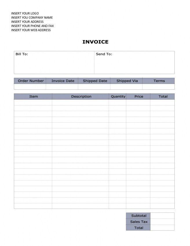 Aynax Com Free Printable Invoice | uniglobevolunteers.org