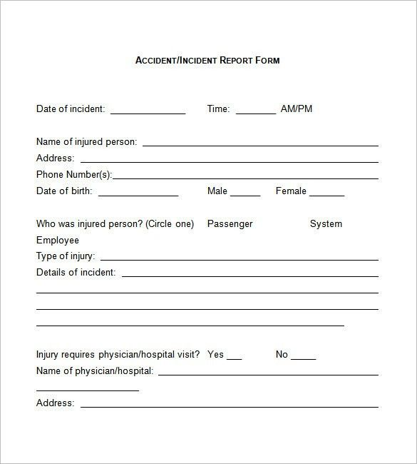 Incident Report Template - 33+ Free Word, PDF Format Download ...