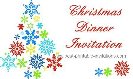 Printable Christmas Dinner Invitation Templates 2