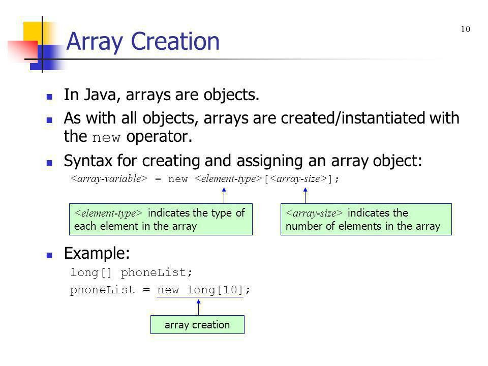 Chapter 10 – Arrays and ArrayLists - ppt download