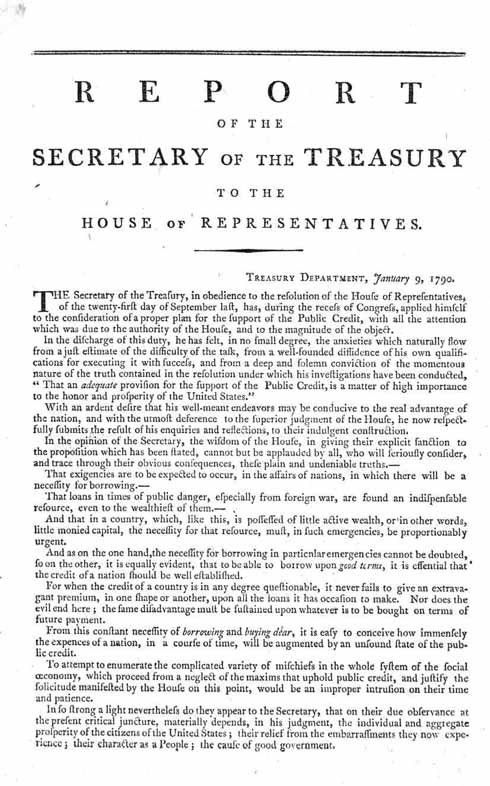First Report on the Public Credit - Wikipedia