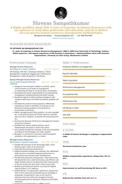 Sample Resume Hr Student Create Professional Free Intended For 25 ...