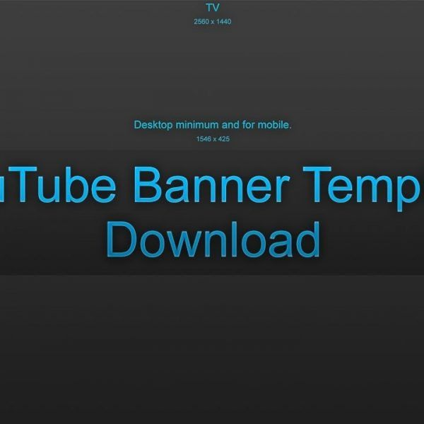 Youtube – Blank Banner Template – Download – Youtube inside ...