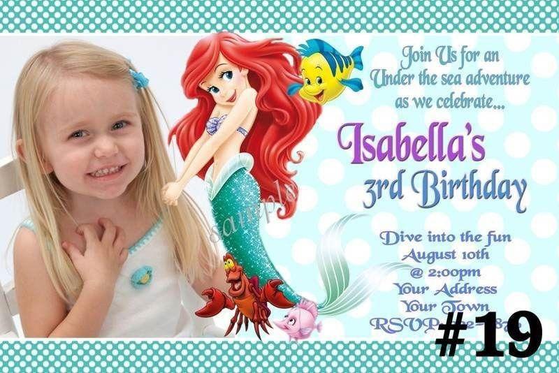 Little Mermaid Birthday Invitations | christmanista.com