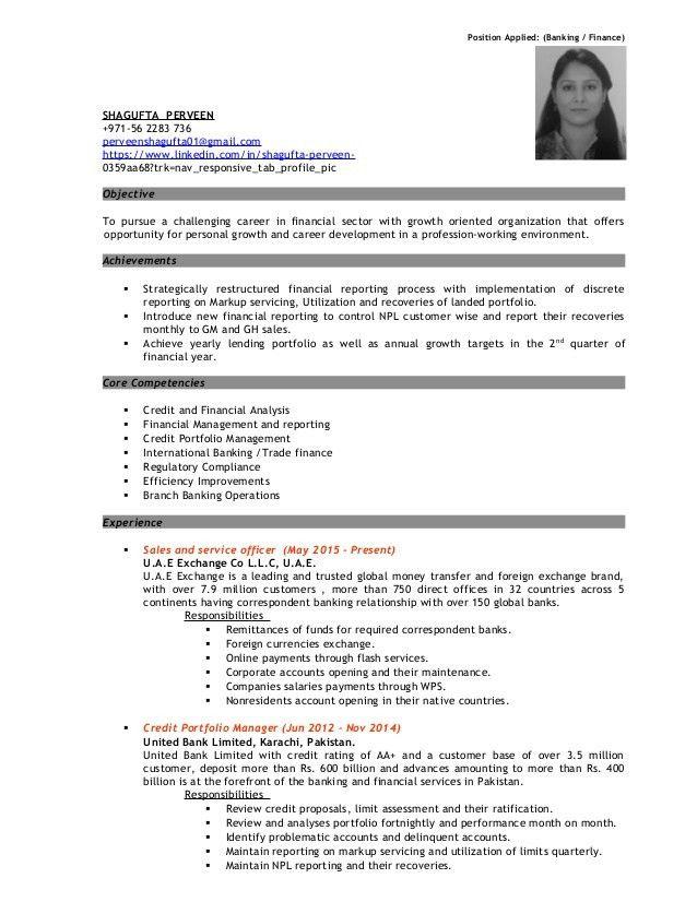 Resume banking