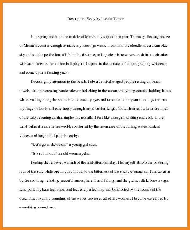 descriptive essays about the beach