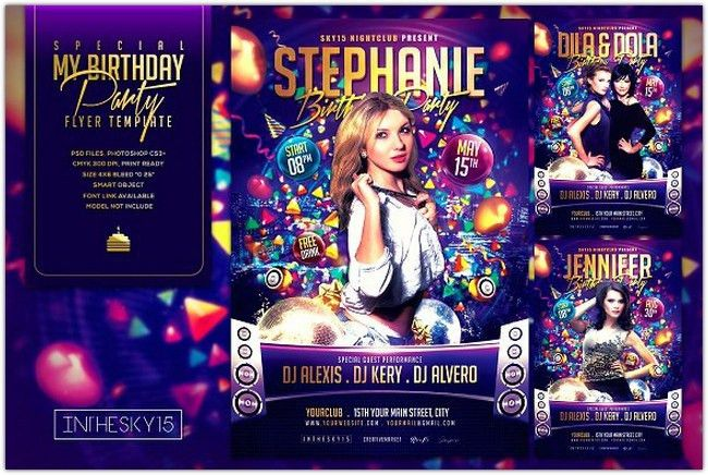 31+ Awesome Birthday Flyer PSD Templates - Web Creative All