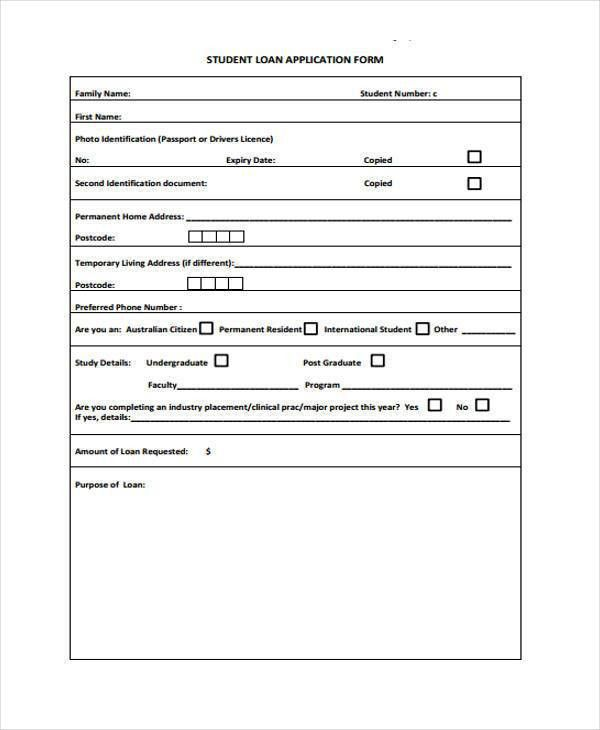 Application Forms Format