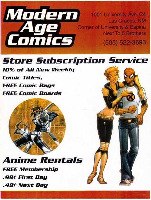 Modern Age Comics Flyer ads -