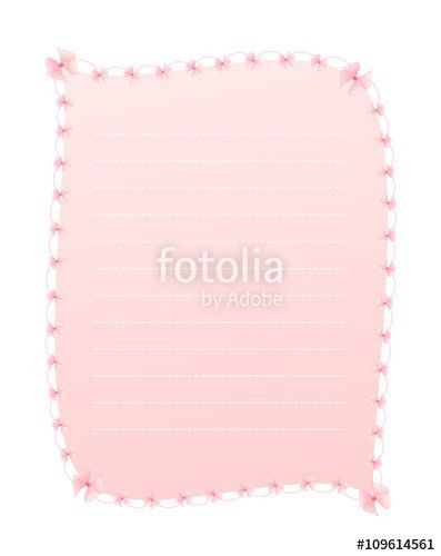 Blank Gradient Sweet Pink Vertical Lined Letter Paper Decorated ...