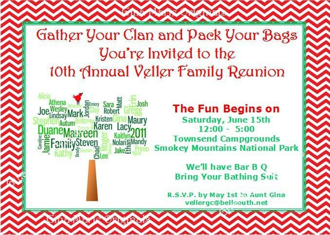 family reunion invitation wording | summer partying ideas ...