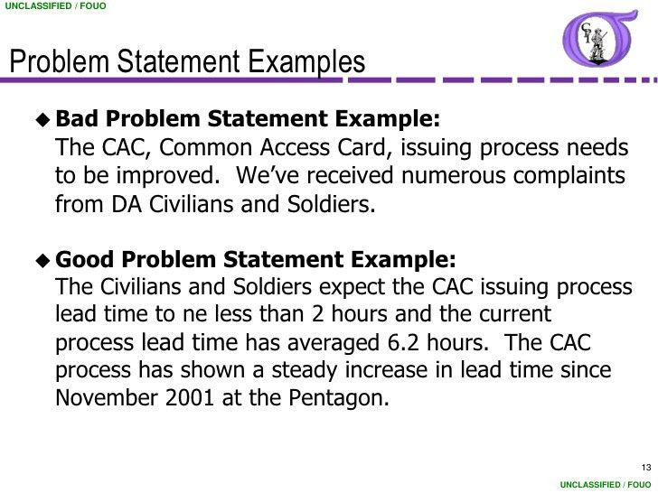Amazing Project Problem Statement Template Picture Collection