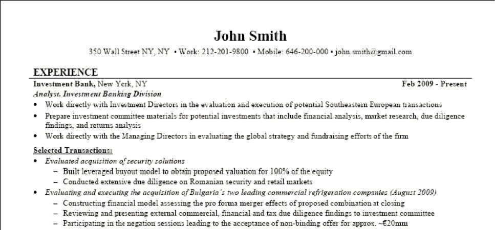 banking resume example. sample resume for bank job resume format ...