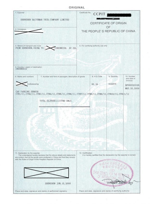 Formal Certificate Of Origin Template and Form Samples : Vlcpeque