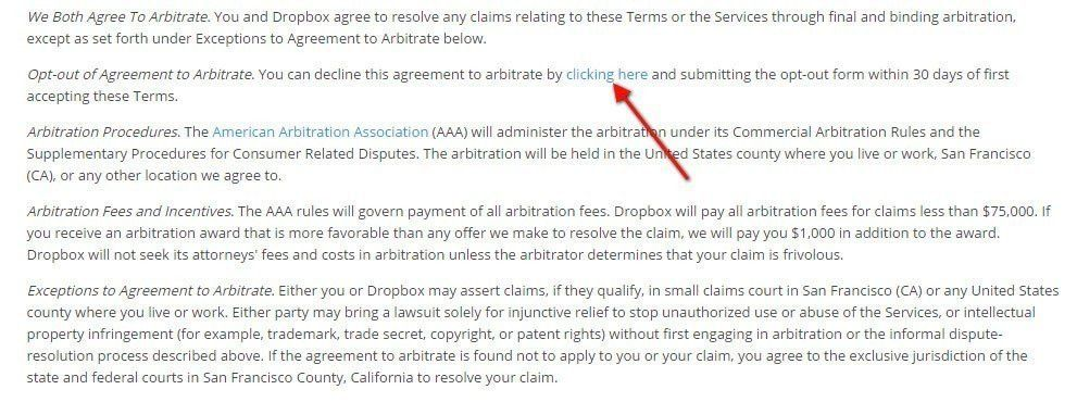 Arbitration clause in Terms and Conditions - TermsFeed