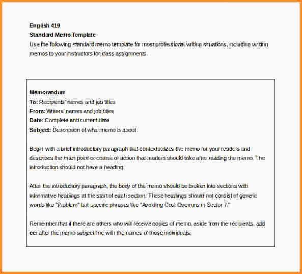 word memo template