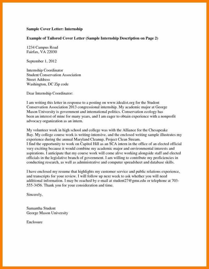 cover letter student internship | Docoments Ojazlink