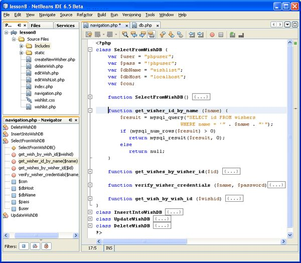 NetBeans IDE for PHP Editor