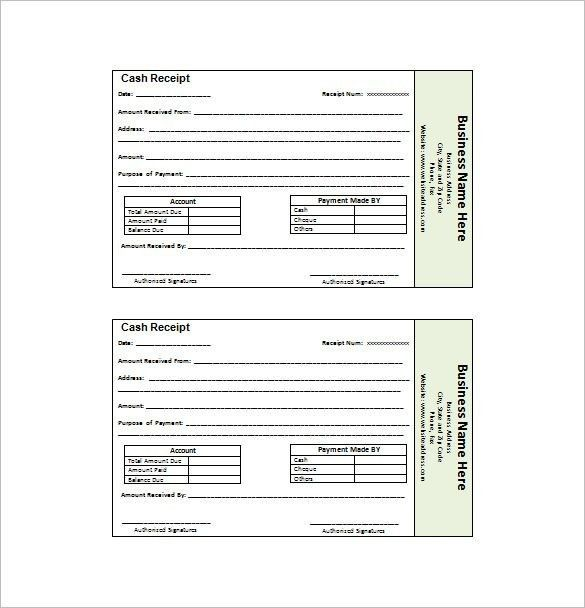 Receipt Invoice Template - Best Resume Collection