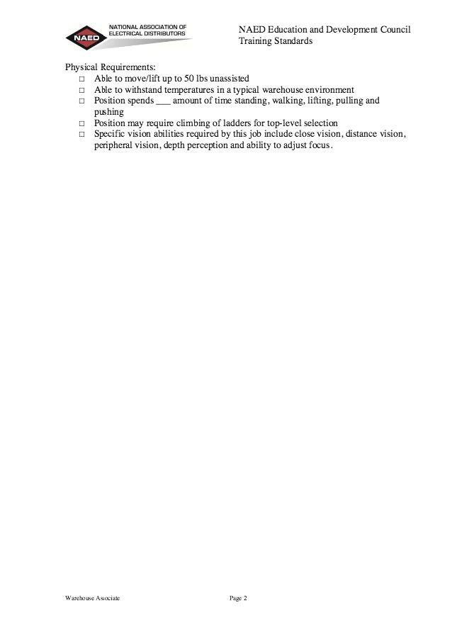 Warehouse Associate Job Description Resume - http://resumesdesign ...