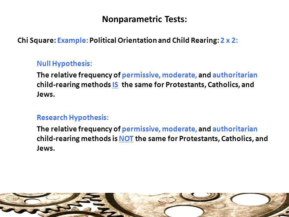 Nonparametric Tests of Significance Statistics for Political ...