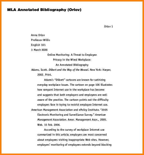 5+ example mla annotated bibliography | Annotated bibliography
