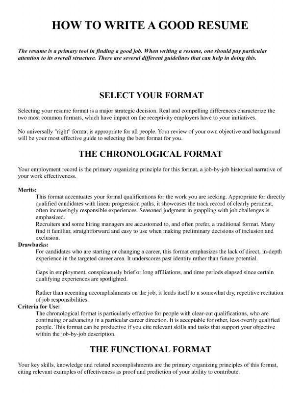 how to wtrite a proper resume for computer networking or technical ...