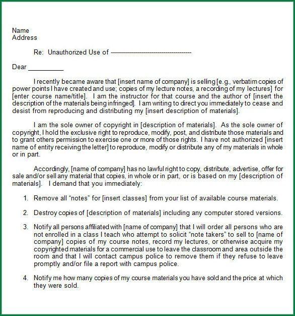 10 Cease and Desist Letter Template   applicationsformat.info